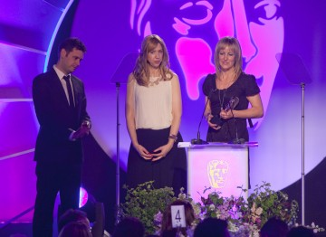 Steph Harris, Dan Jones and Sandra Gorel win the BAFTA for Digital Creativity.