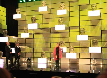 Emily Watson collects the BAFTA for her performance in Appropriate Adult.