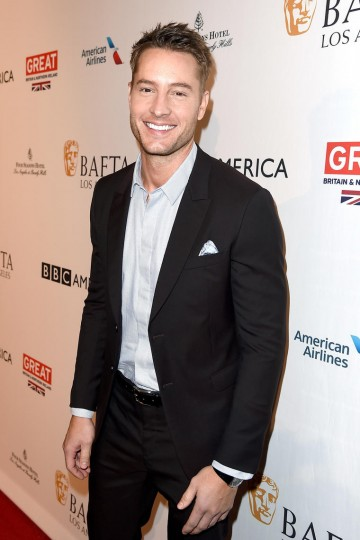 Actor Justin Hartley from This Is Us attends the 2017 BAFTA Tea