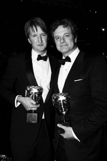 Tom Hooper and Colin Firth at the 2011 Film Awards