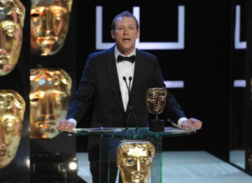 Fresh from his Comic Relief performance of Flashdance, comedian and Peep Show star Robert Webb presented the Entertainment Programme award (BAFTA / Marc Hoberman).