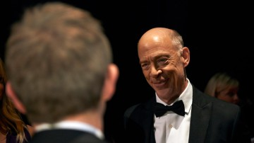 Supporting Actor winner J. K. Simmons backstage at London's Royal Opera House.