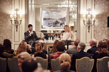 Academy Circle event with Jamie Dornan, The Savoy Hotel, November 2015