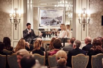 Academy Circle event with Jamie Dornan, The Savoy Hotel, November 2015