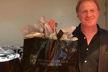 Mark Lewis Jones with his Nominees Bag