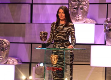 Davina McCall presents the award for Male Performance in a Comedy Programme.