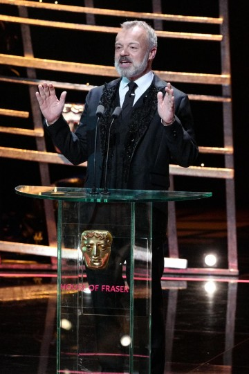 Host Graham Norton addressing the star-studded audience