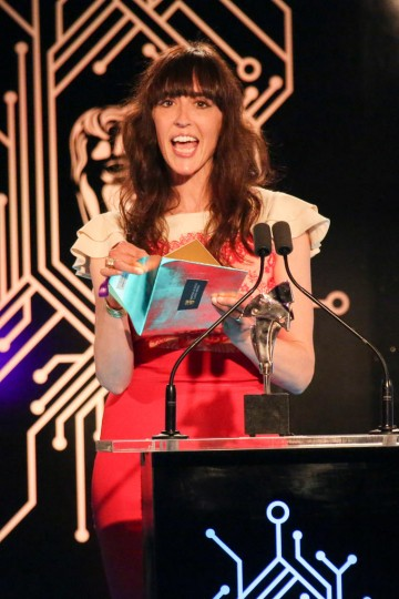 Viva Seifert presents the award for BAFTA Ones To Watch Award in association with Dare to Be Digital