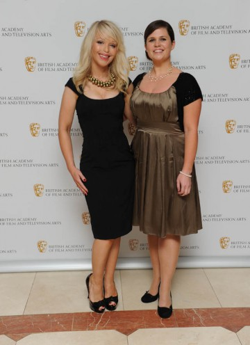 Break-through Talent nominee and director of Katie: My Beautiful Face, Jessie Versluys, arrives with the documentary's main subject Katie Piper.