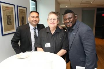 Rafael Samanez, Jerry Carlson and Emmanuel Adu Poku