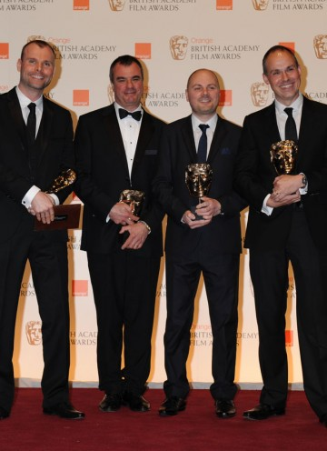 Chris Corbould, Paul Franklin, Andrew Lockley, Peter Bebb. (Pic: BAFTA/Richard Kendal)