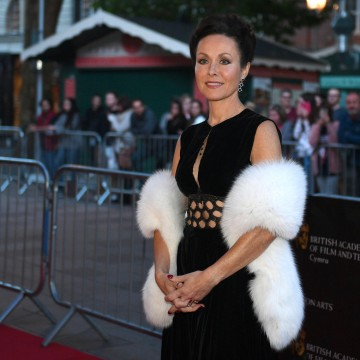 Amanda Mealing on the Cymru Awards red carpet