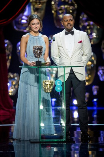 Ella Purnell and Noel Clarke present the Award for Production Design.