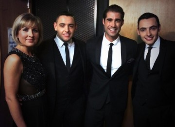 Matt Johnson & Sian Lloyd backstage at the Awards with Britain's Got Talent finalists Richard and Adam who performed at the ceremony to kick off the show (photo via Twitter: @Mattjohnsons)
