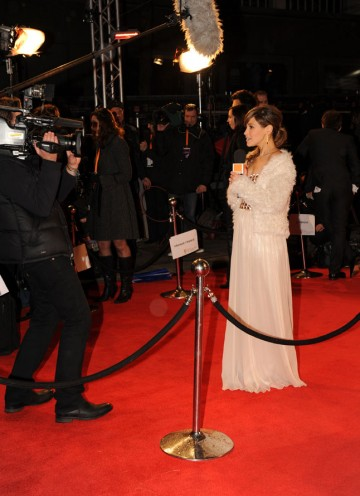 Rachel Stevens in the midst of red carpet reporting. (Pic: BAFTA/Richard Kendal)