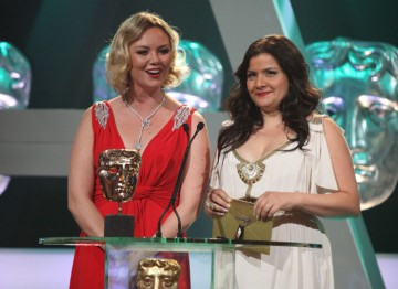 Charlie Brooks and Nina Wadia announce the winner in the Factual Series category.