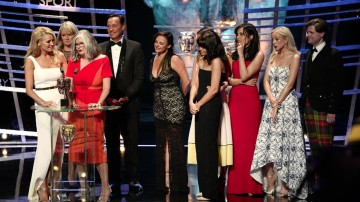 The Strictly Come Dancing team accept the award for Entertainment Programme