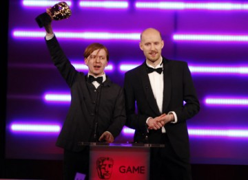 Since its release, almost 6 million copies of Bad Company 2 have been sold worldwide. Its producers accept the award for Use of Audio. (Pic: BAFTA/Brian Ritchie)