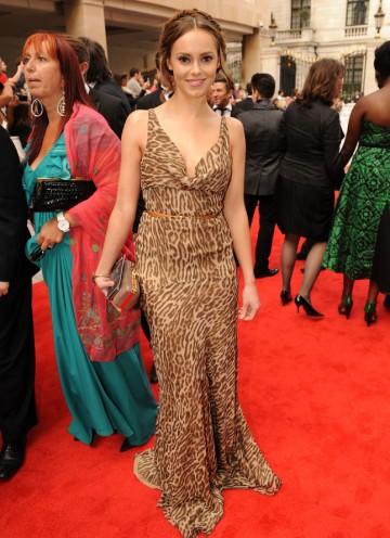 The Inbetweeners actress arrives. (Pic: BAFTA/Richard Kendal)