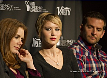 Amy Adams, Jennifer Lawrence and Bradley Cooper