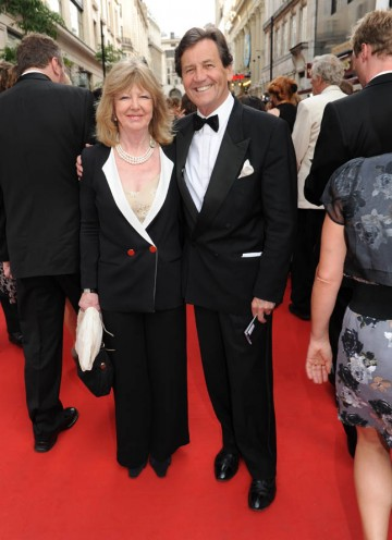 Broadcaster Melvyn Bragg arrives to receive the Academy's highest honour, the Fellowship (BAFTA/Richard Kendal).