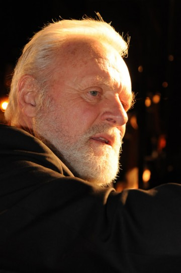 Fellowship recipient Anthony Hopkins on the red carpet at the Orange British Academy Film Awards in 2008.