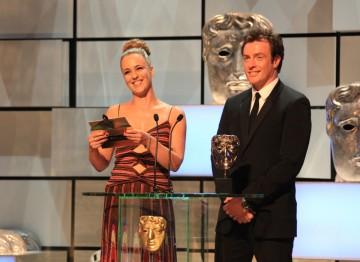 Miranda Raison and Toby Stephens present the award for Comedy Programme.