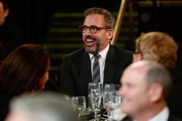 Actor Steve Carell enjoys the ceremony.