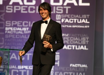 Physicist Brian Cox presents the Specialist Factual Award. (BAFTA/Steve Butler)