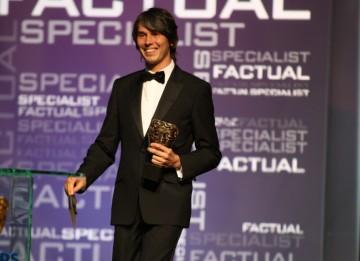 Physicist Brian Cox presents the Specialist Factual Award. (BAFTA/Steve Butler)