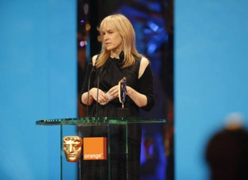 A second BAFTA for The Curious Case of Benjamin Button - this time for Make Up & Hair - is collected by Jean Black and Colleen Callaghan (BAFTA / Marc Hoberman).