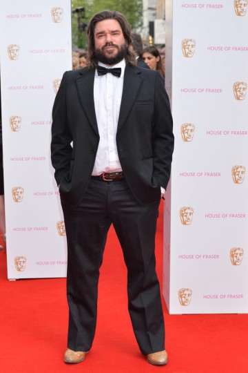 Matt Berry, nominee in the Male Performance in a Comedy Programme category, arrives on the red carpet