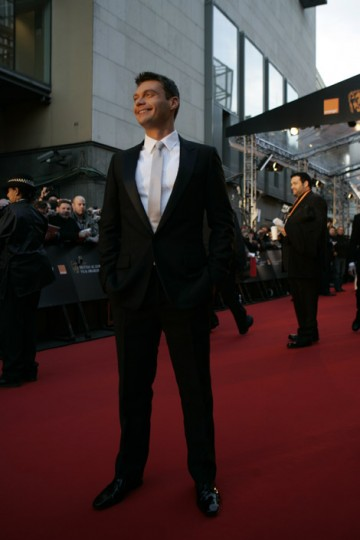 American idol presenter Ryan Seacrest on the red carpet.