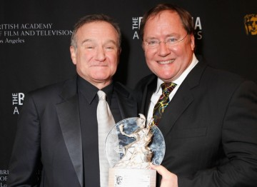 Robin Williams and John Lasseter