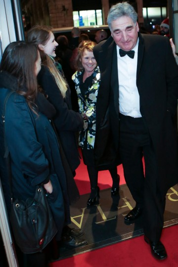 Imelda Staunton and Jim Carter arrive at BAFTA 195 Piccadilly for the evening's event