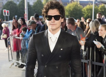 Actor Aneurin Barnard arrives at Wales Millennium Centre for the Awards