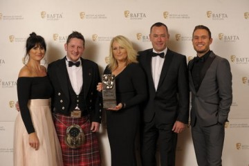 Liam McDougall, Sam Poling & Matt Arundel (Current Affairs) with citation readers Dawn Steele & Jordan Young