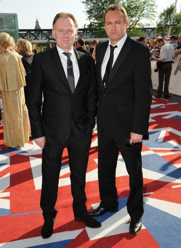 Hustle actor Robert will present the Situation Comedy BAFTA alongside his brother, Mad Dogs star Philip. Robert wears a Patrick Cox at House of Fraser suit.