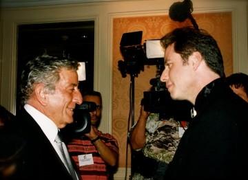 Tony Bennett and John Travolta