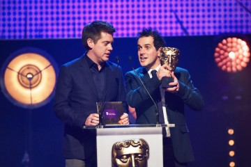 Dick and Dom present the BAFTA for Game at the British Academy Children's Awards in 2015