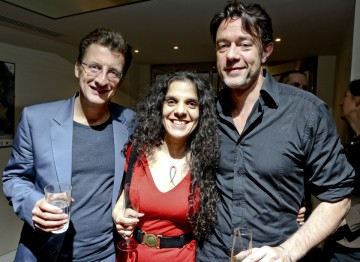 Peter Straughan with event chair Tanya Seghatchian and lecture series founder Jeremy Brock.