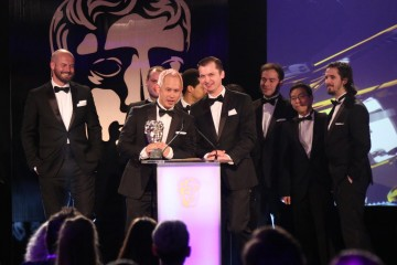 The Monument Valley team accept the award for British Game at the British Academy Games Awards in 2015