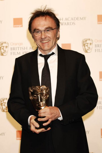 Danny Boyle was exceptionally pleased to crown a night of Slumdog Millionaire success by taking the Best Director award (BAFTA/ Richard Kendal).