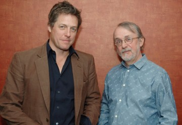 Hugh Grant and Pirates director Peter Lord at the screening and Q&A of Pirates! An Adventure with Scientists