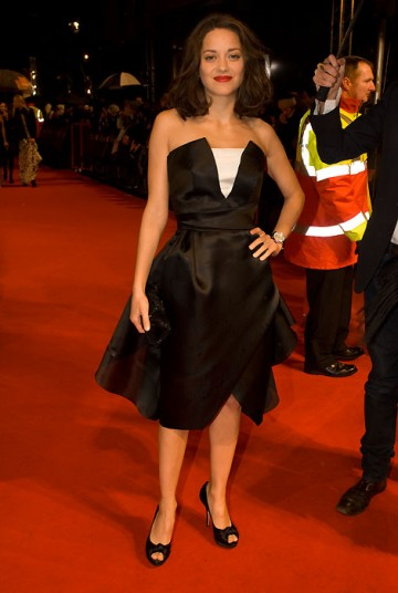 French actress Marion Cotillard, last year's Leading Actress winner, arrived in a stunning Dior Courture dress (BAFTA / Richard Kendal).