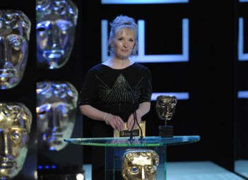 Television actress Lindsay Duncan took to the stage to present the fiercely contested Actor category (BAFTA / Marc Hoberman).