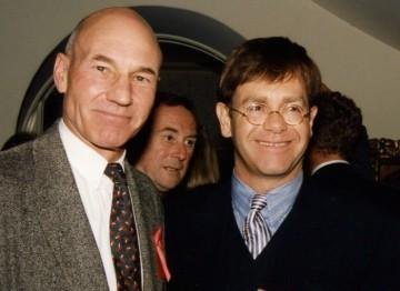 Elton John and Patrick Stewart