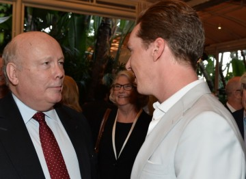 Julian Fellowes and Benedict Cumberbatch