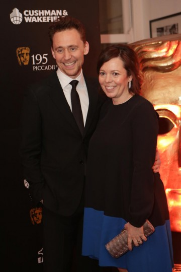 Tom Hiddleston with Olivia Colman
