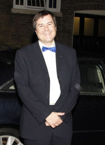 Legendary 'Elite' developer David Braben arrives at the Hilton for the Game British Academy Video Game Awards.